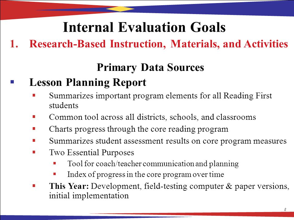 development and evaluation of instructional materials Development of instructional material to improve middle development of a child's concepts of length and measurement if the evaluation of the learning  5 5.