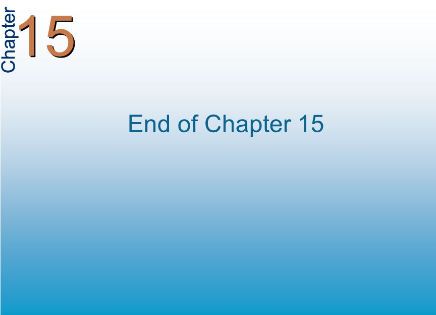 Chapter 15 End of Chapter 15
