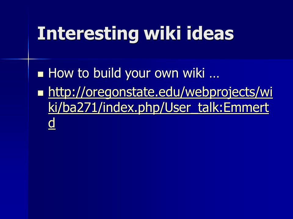 Interesting wiki ideas How to build your own wiki … How to build your own wiki …   ki/ba271/index.php/User_talk:Emmert d   ki/ba271/index.php/User_talk:Emmert d   ki/ba271/index.php/User_talk:Emmert d   ki/ba271/index.php/User_talk:Emmert d