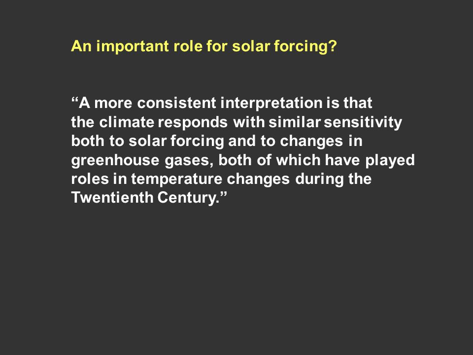 An important role for solar forcing.