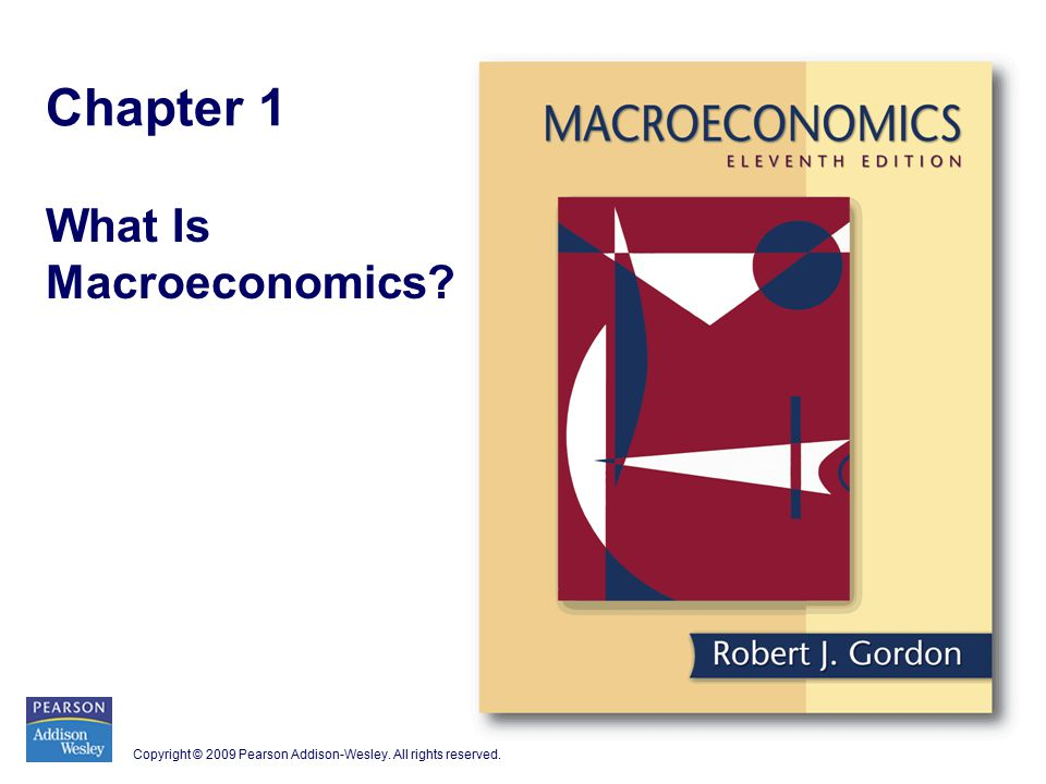 Copyright © 2009 Pearson Addison-Wesley. All rights reserved. Chapter 1 What Is Macroeconomics
