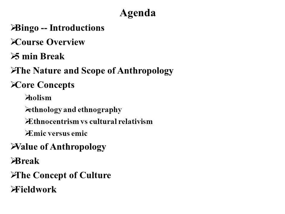 an overview of anthropology and its fields Overview every discipline has its own history included in the social sciences are the fields of anthropology, criminology, economics, geography.