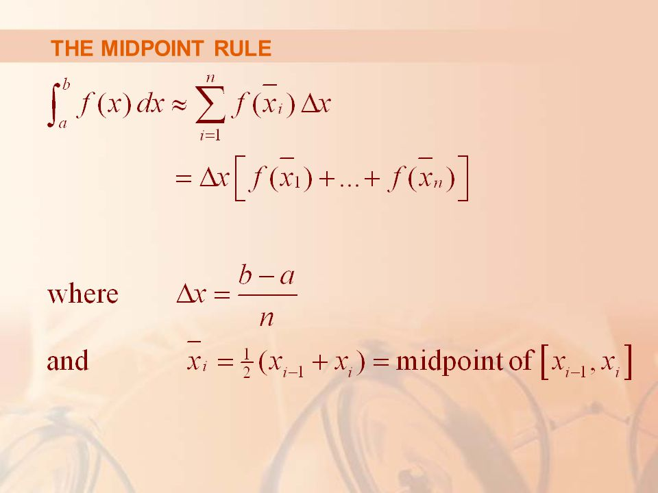 THE MIDPOINT RULE