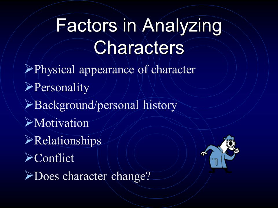 Types of Characters  People or animals  Major characters  Minor characters  Round characters  Flat characters