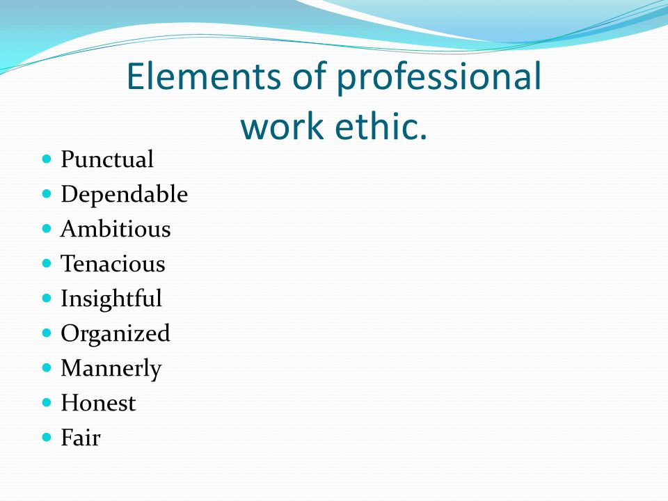 work ethic adjectives