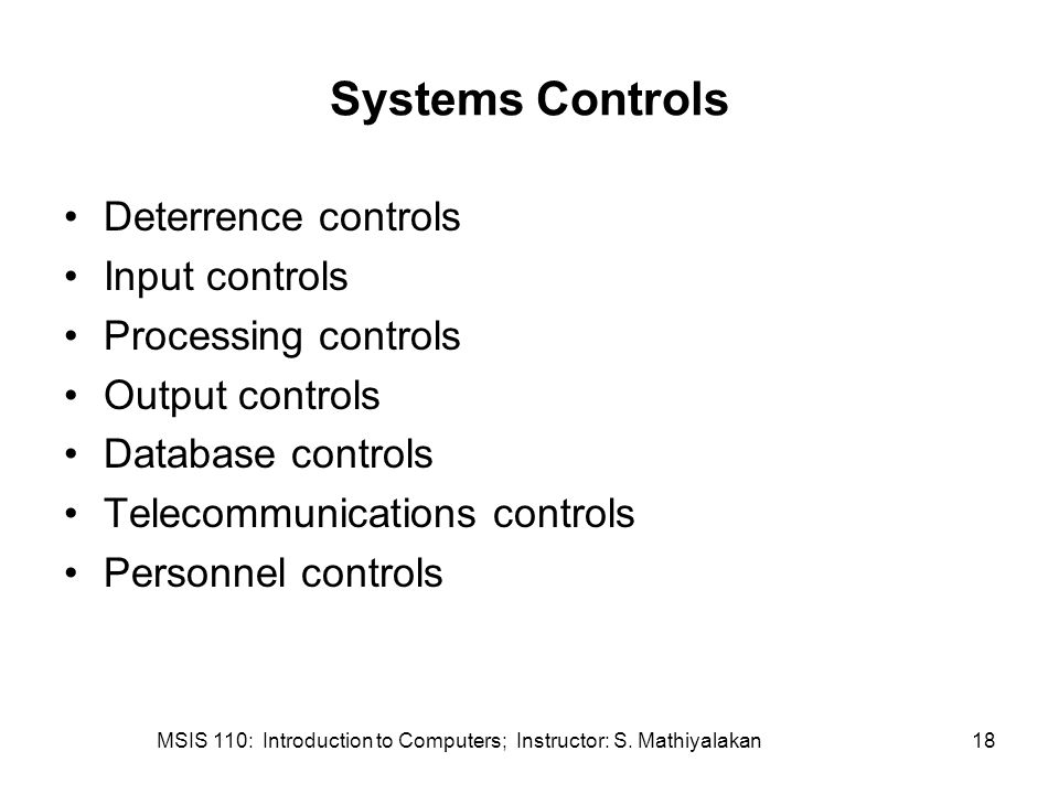 MSIS 110: Introduction to Computers; Instructor: S.