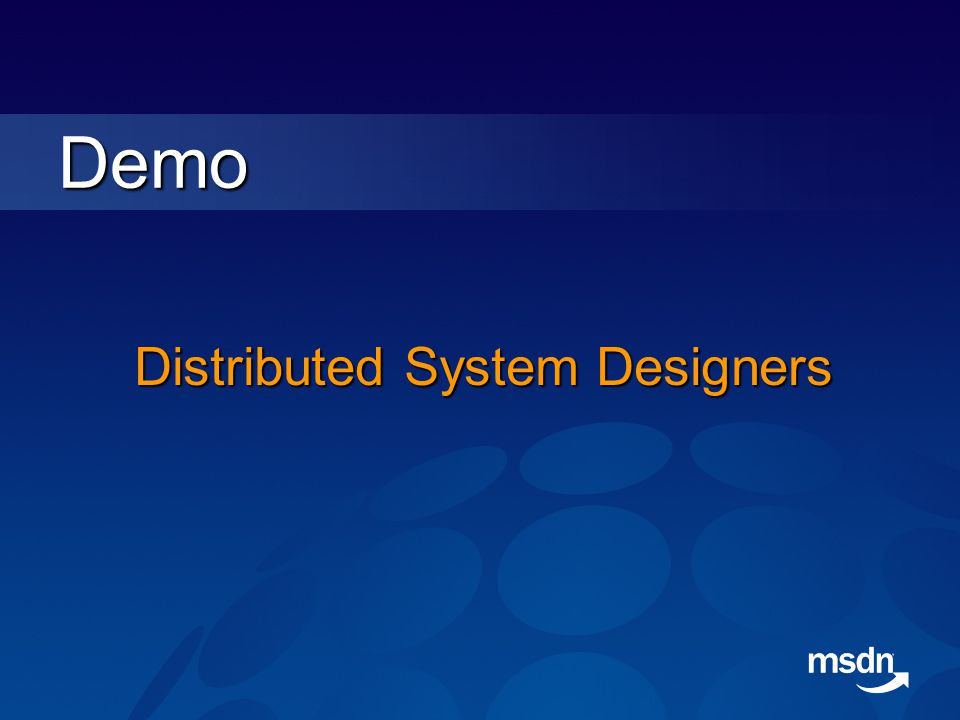 Distributed System Designers Demo