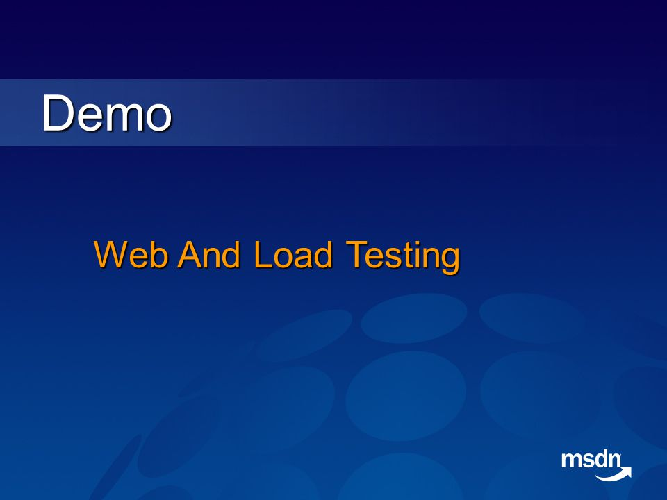 Demo Web And Load Testing