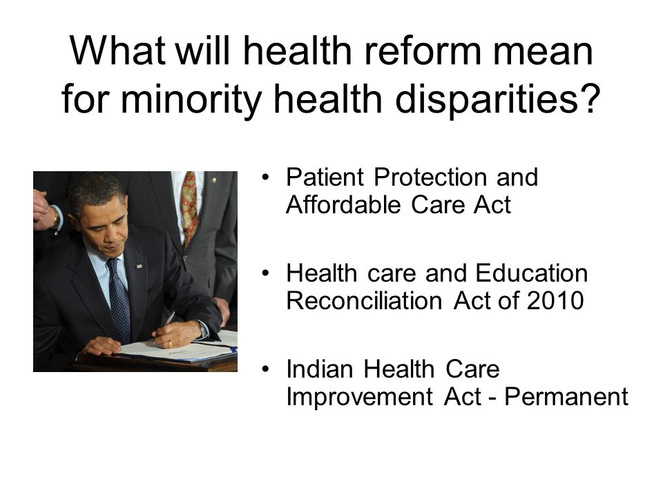 What will health reform mean for minority health disparities.