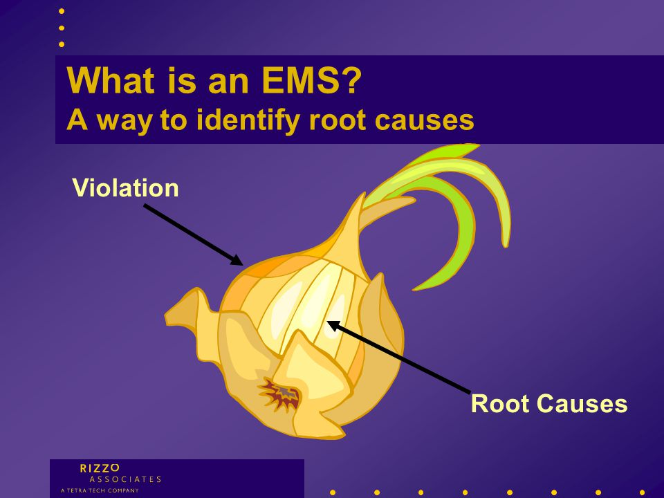 What is an EMS. A way to identify root causes What are your procedures.