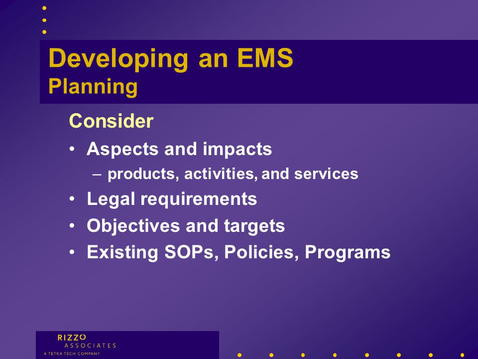 Environmental Policy Improvement Prevention Compliance Developing an EMS Environmental Policy