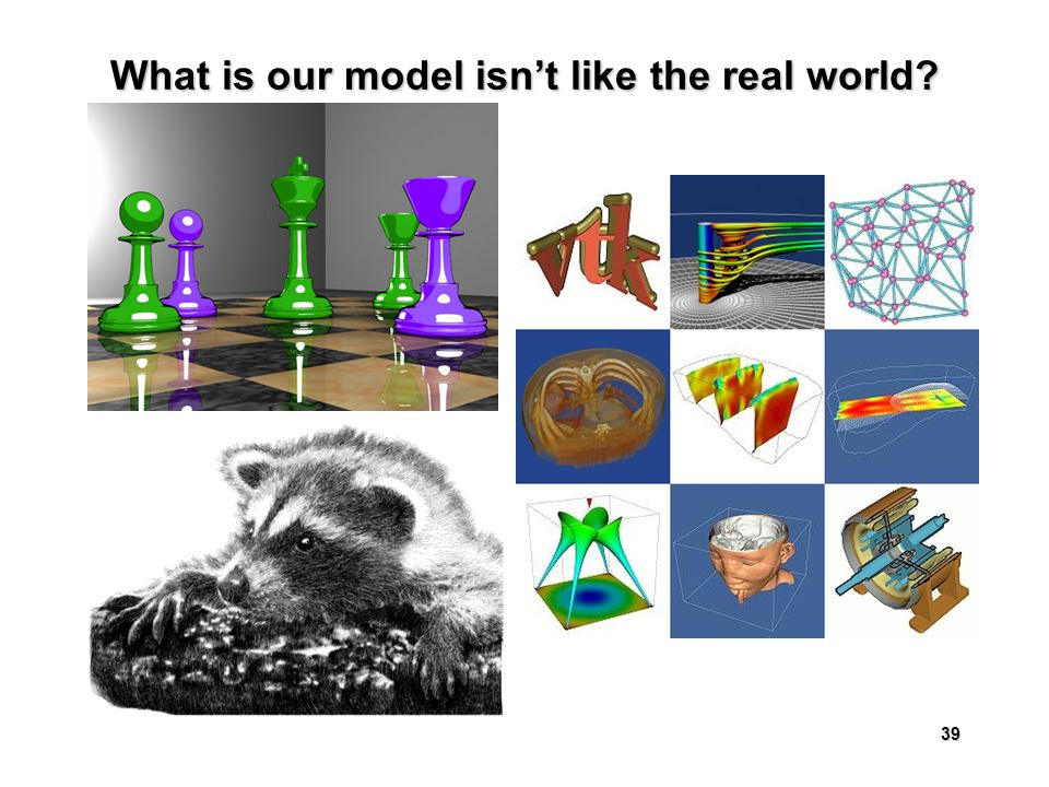 39 What is our model isn't like the real world