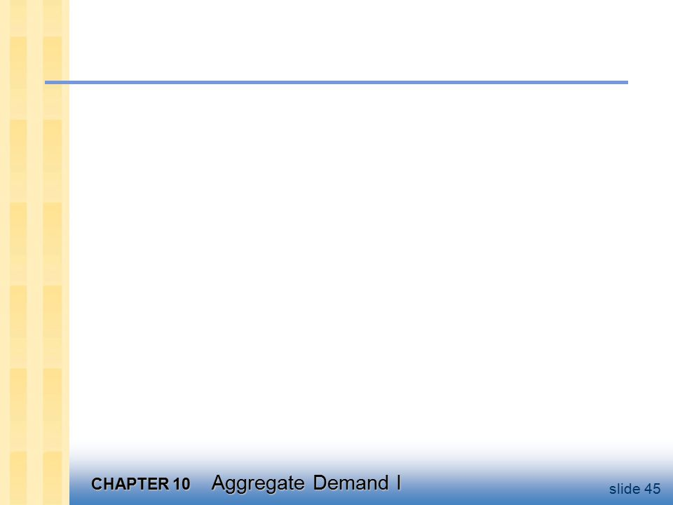CHAPTER 10 Aggregate Demand I slide 45