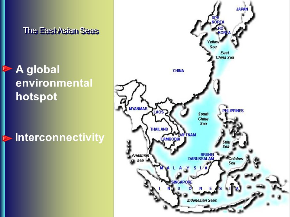 The East Asian Seas A global environmental hotspot Interconnectivity