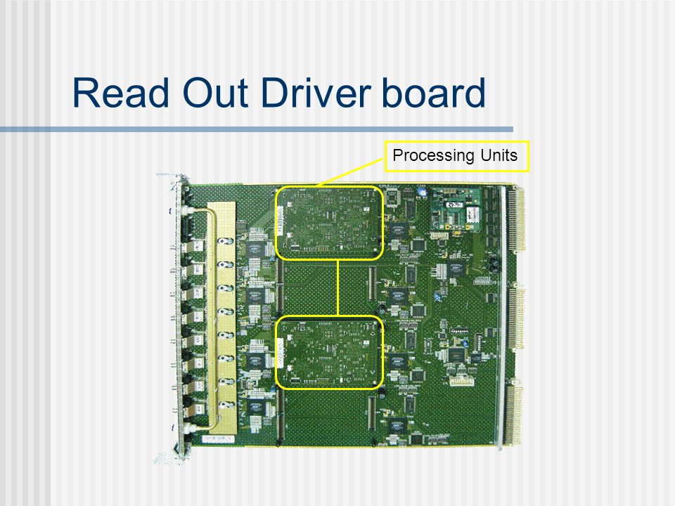 Read Out Driver board Processing Units