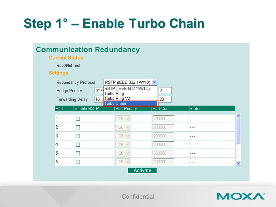 Confidential Step 1° – Enable Turbo Chain