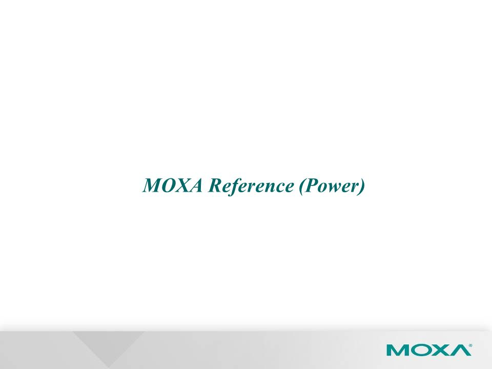 MOXA Reference (Power)