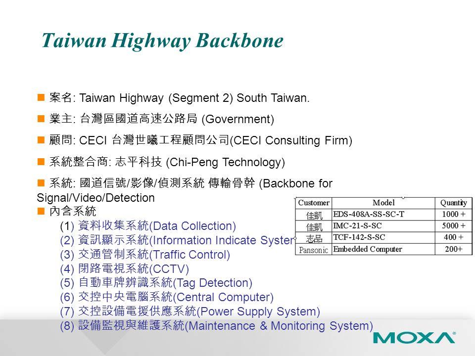 Taiwan Highway Backbone 案名 : Taiwan Highway (Segment 2) South Taiwan.