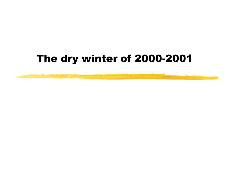 The dry winter of