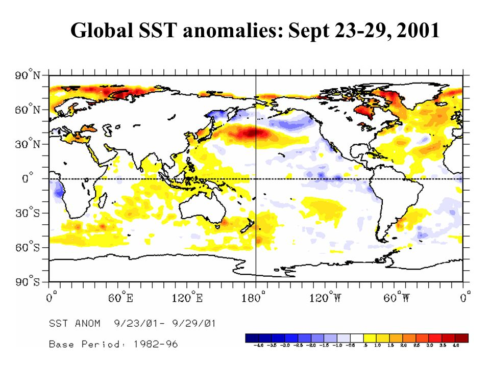 Global SST anomalies: Sept 23-29, 2001