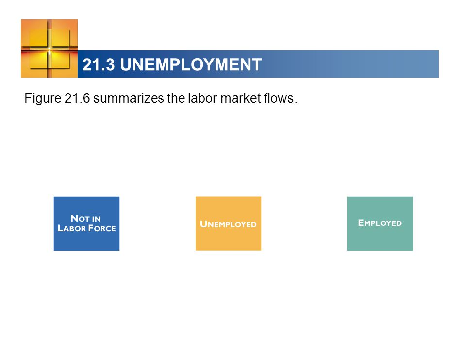 21.3 UNEMPLOYMENT Figure 21.6 summarizes the labor market flows.