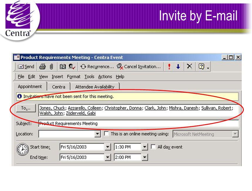 Invite by E-mail