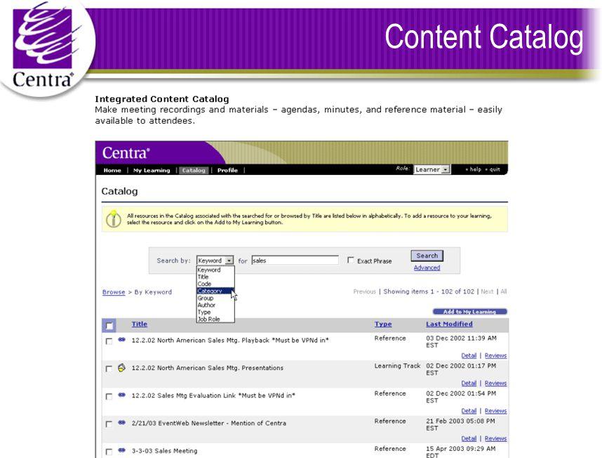 Content Catalog