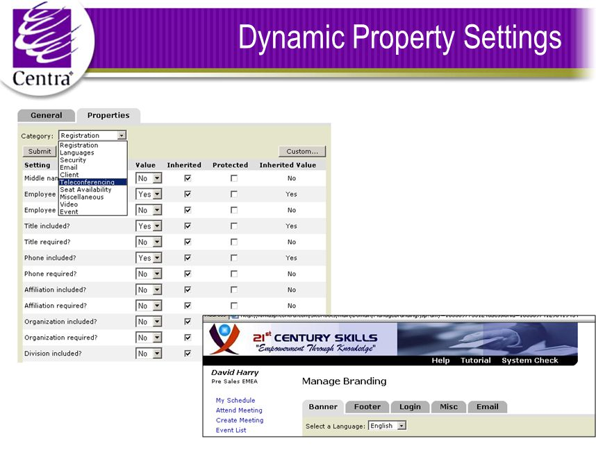 Dynamic Property Settings