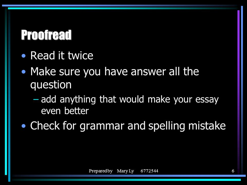 PROOF READ ESSAY ;) ANSWERRR?