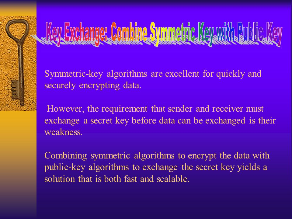 Symmetric-key algorithms are excellent for quickly and securely encrypting data.