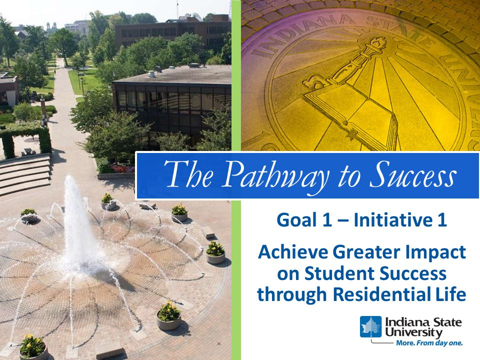 The Pathway to Success Achieve Greater Impact on Student Success through Residential Life Goal 1 – Initiative 1