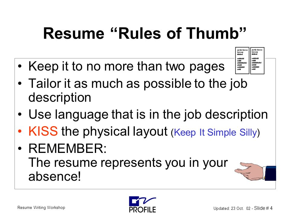 resume rules of thumb april onthemarch co