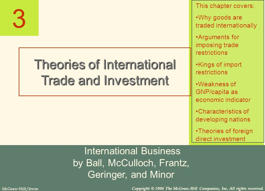 the theory of trade and investment Custom international trade and investment theory essay the paper discusses in detail international trade, investment theory and its practice within business operations of eu member countries it also describes the role of the european union and significance of the single european market for eu-based business.