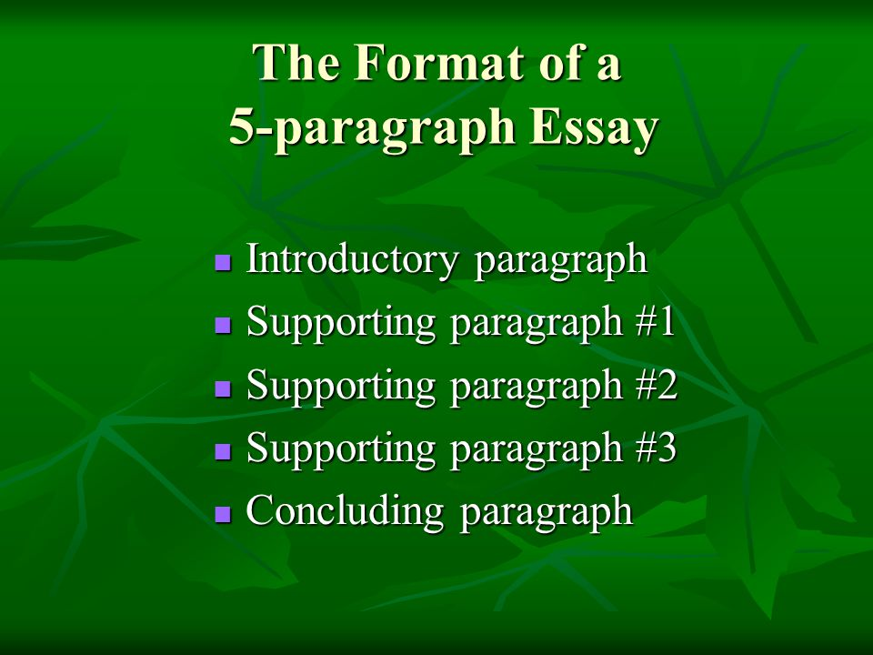 Good 5 Paragraph Essay