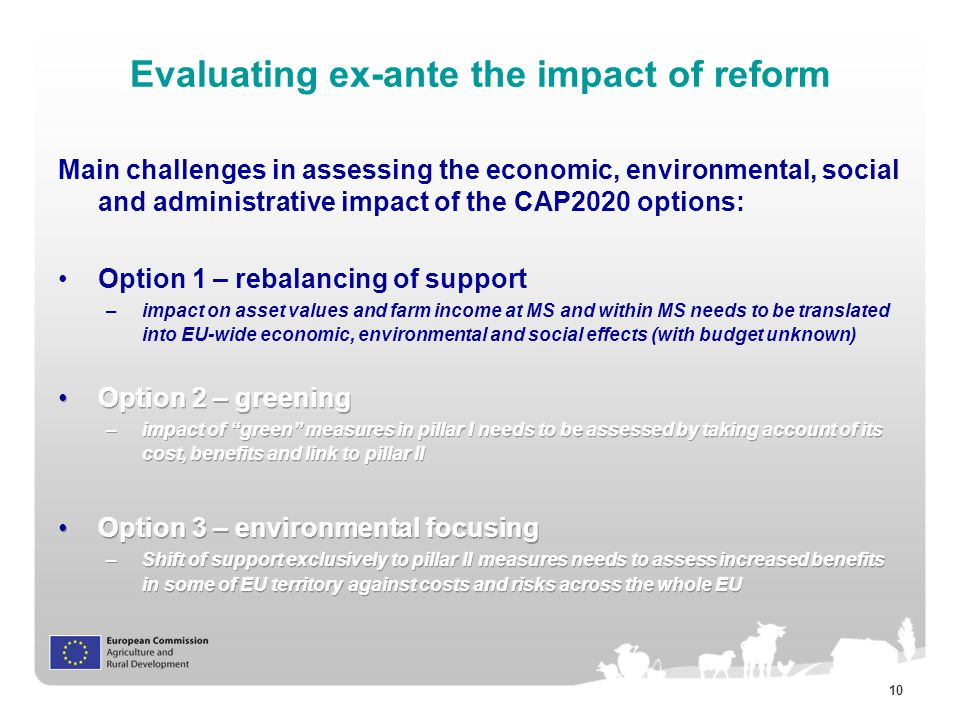 10 Evaluating ex-ante the impact of reform