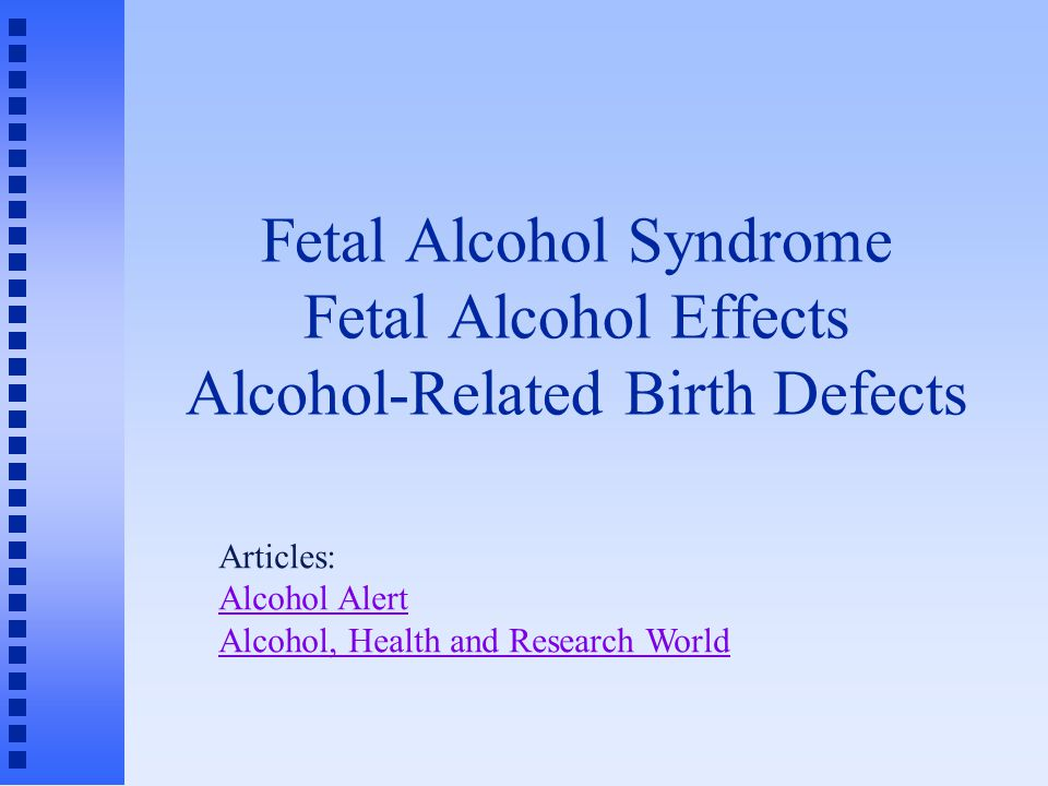 Fetal alcohol syndrome essay free