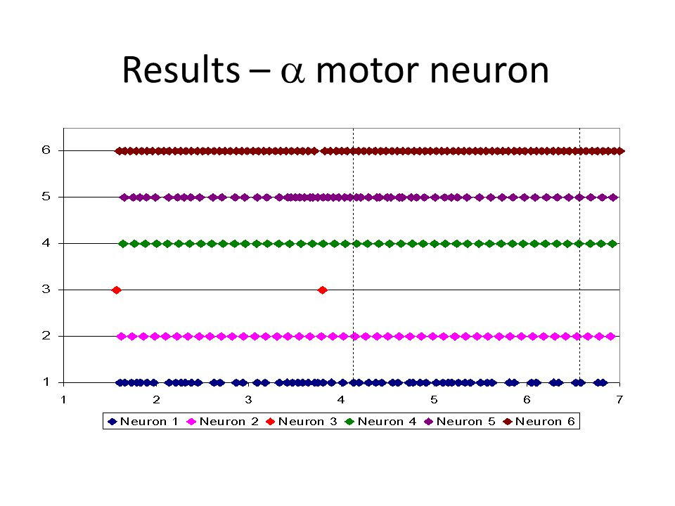 Results –  motor neuron