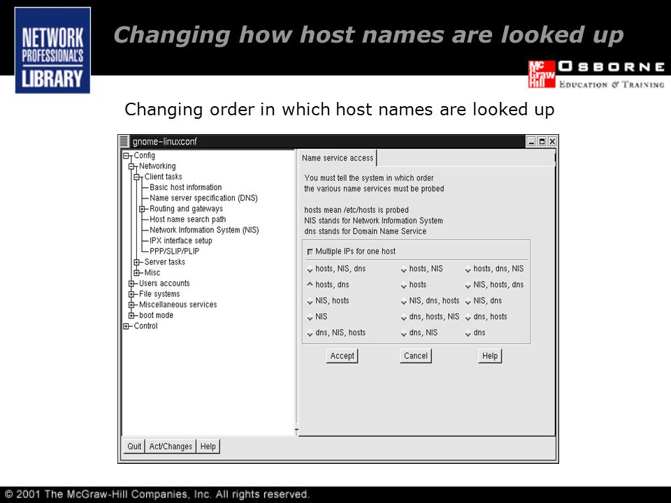 Changing order in which host names are looked up