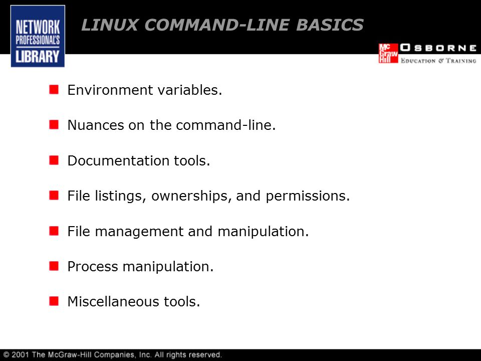 Environment variables. Nuances on the command-line.