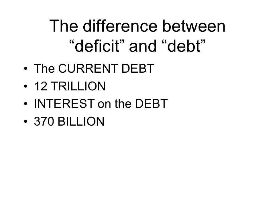 The Difference Between Deficit And Debt The Current Debt 12
