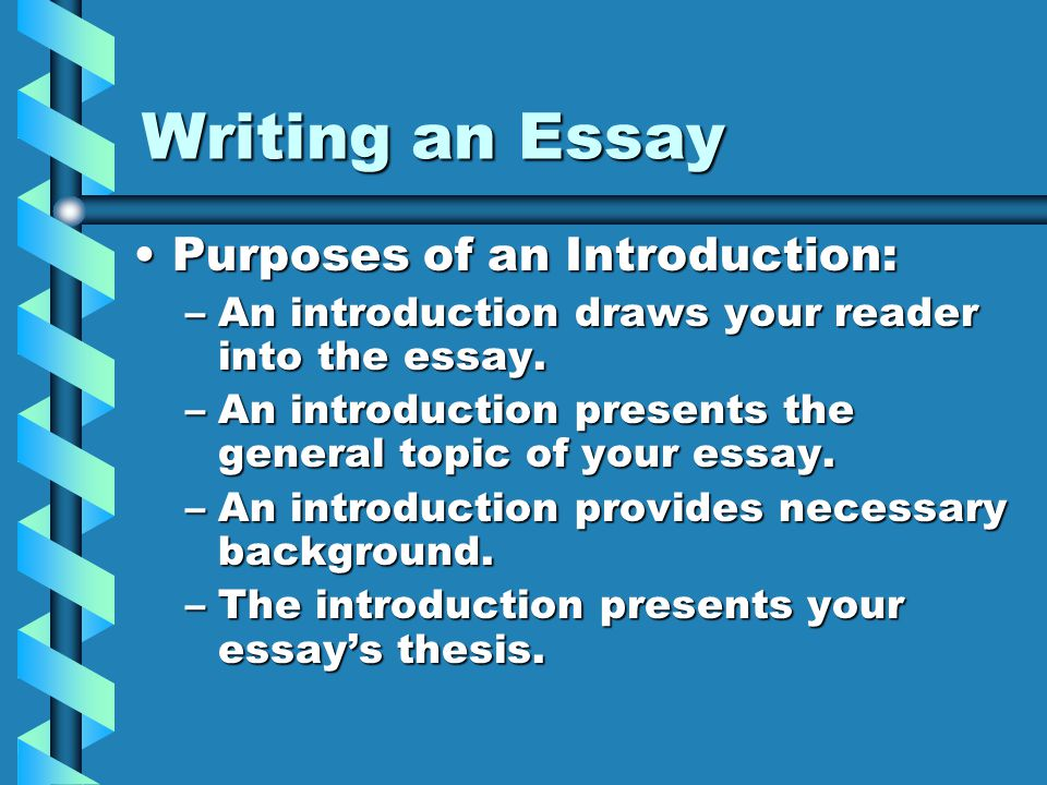 writing introductions to essays