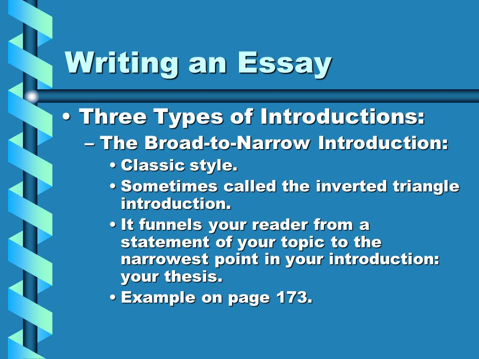 various types of introductions for essays - QSL net