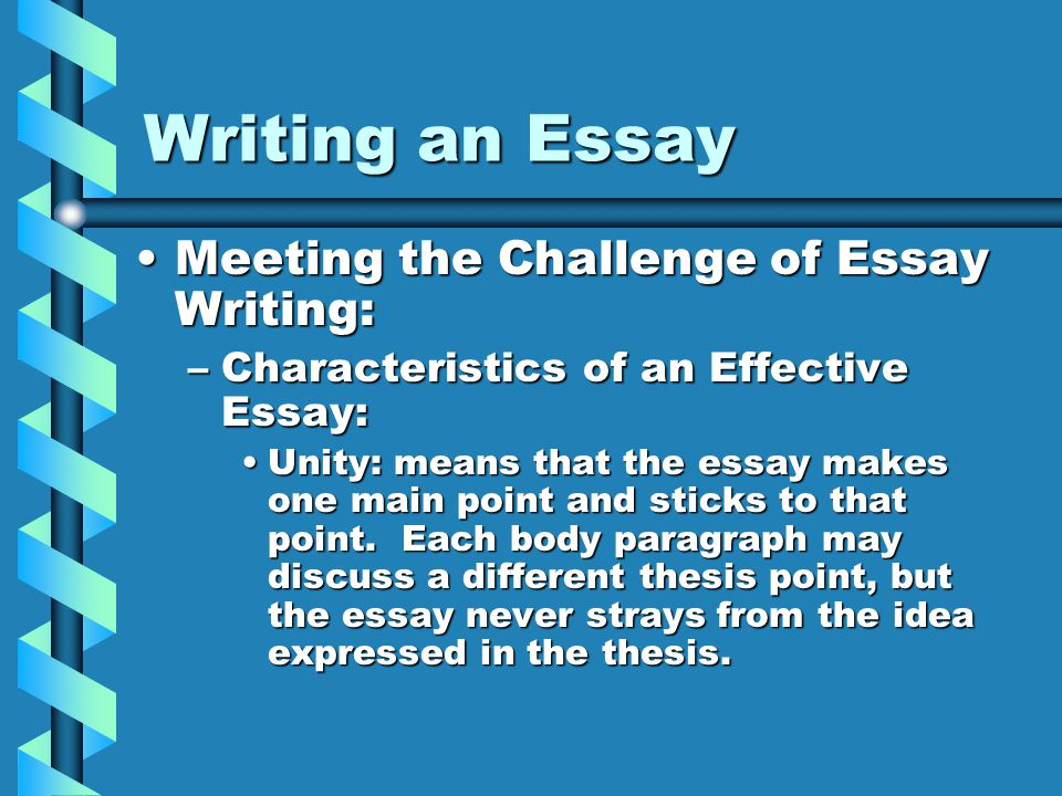 Characteristics Of Essays Writing