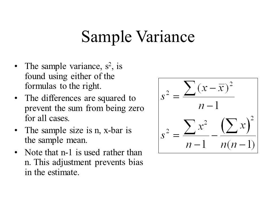 Sample Variance Equation - Jennarocca