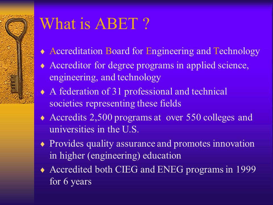 What is ABET .