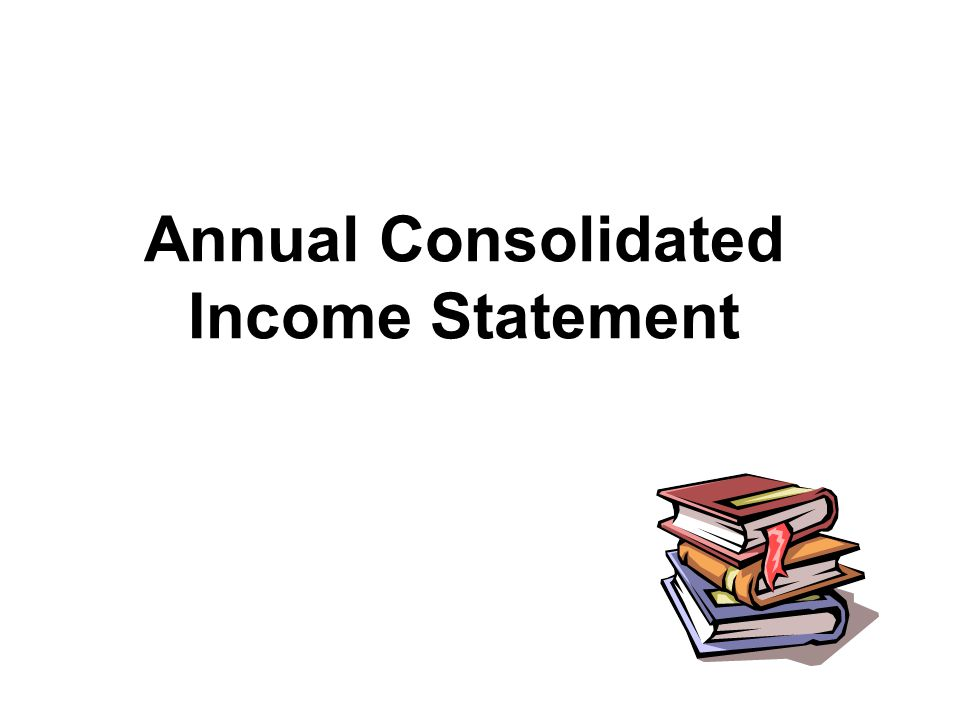 Annual Consolidated Income Statement