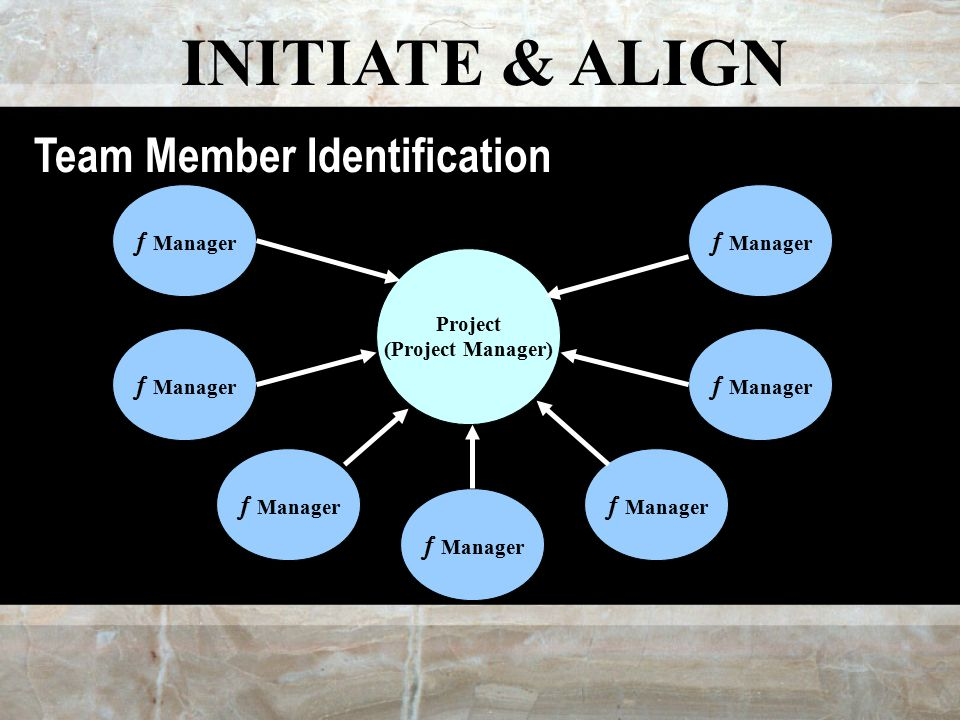 INITIATE & ALIGN Project (Project Manager)  Manager Team Member Identification
