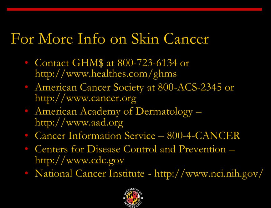Skin cancer prevention and early detection james m eddy texas 22 for more info on skin cancer toneelgroepblik Gallery