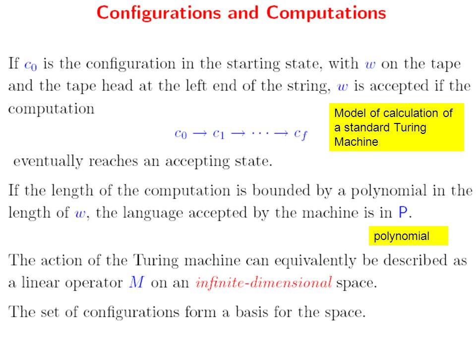 polynomial Model of calculation of a standard Turing Machine