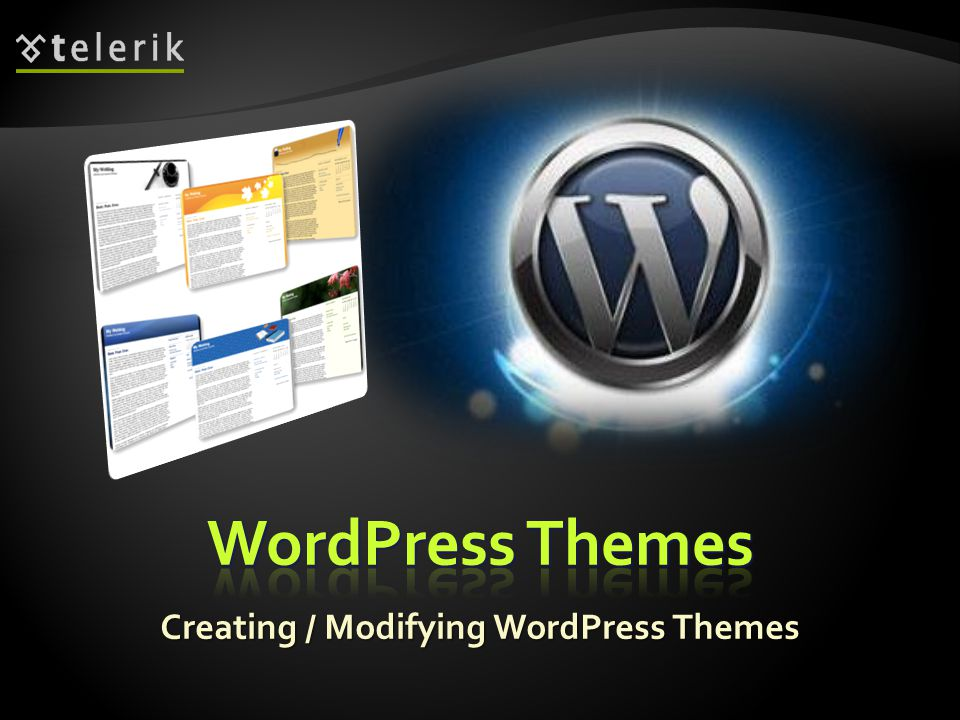 Creating / Modifying WordPress Themes